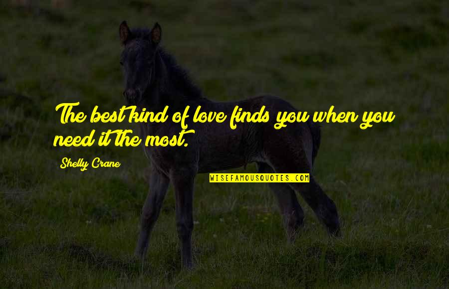 The Best Love Quotes By Shelly Crane: The best kind of love finds you when