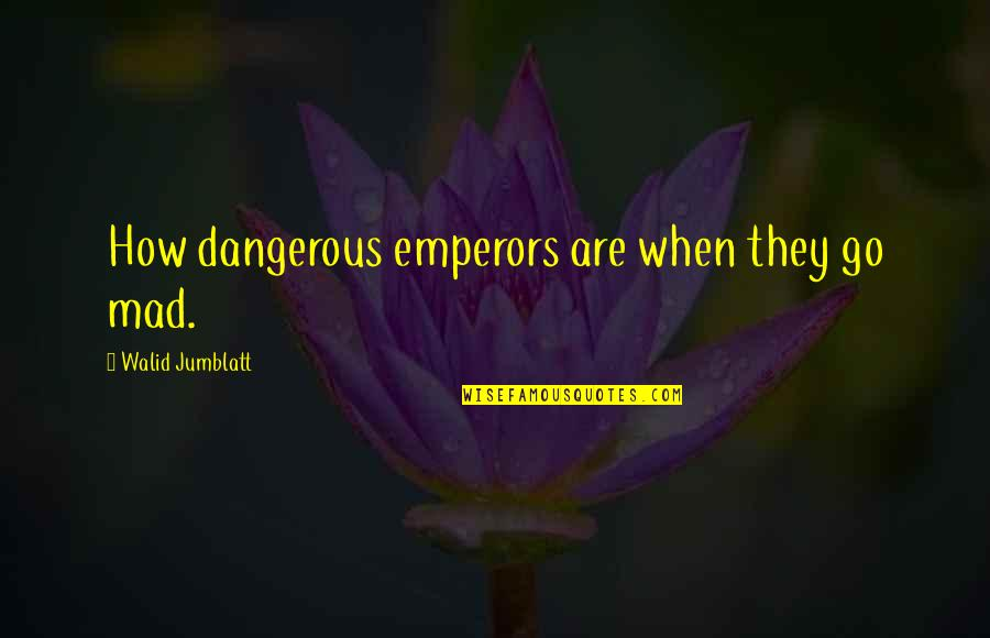The Best Mad Quotes By Walid Jumblatt: How dangerous emperors are when they go mad.