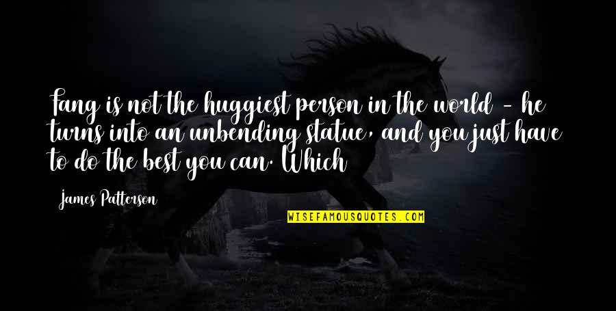 The Best Person Quotes By James Patterson: Fang is not the huggiest person in the