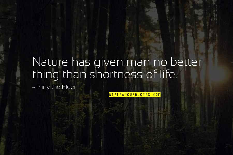 The Better Man Quotes By Pliny The Elder: Nature has given man no better thing than