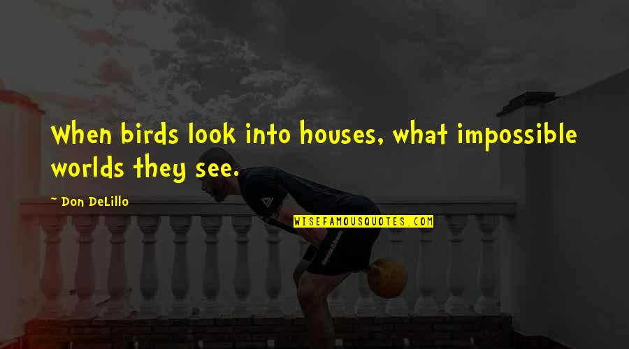 The Body Artist Quotes By Don DeLillo: When birds look into houses, what impossible worlds