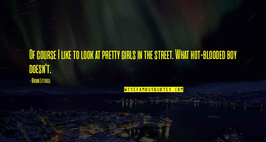 The Boy I Like Quotes By Brian Littrell: Of course I like to look at pretty
