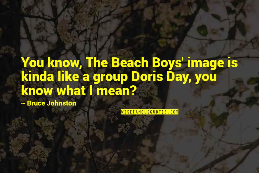The Boy I Like Quotes By Bruce Johnston: You know, The Beach Boys' image is kinda