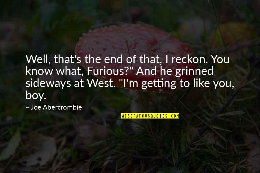 The Boy I Like Quotes By Joe Abercrombie: Well, that's the end of that, I reckon.