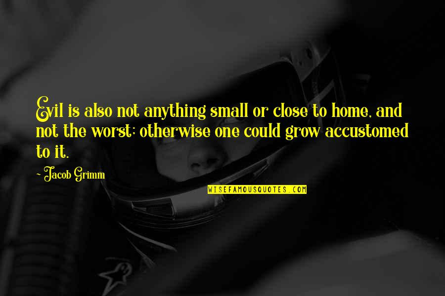 The Brothers Grimm Quotes By Jacob Grimm: Evil is also not anything small or close