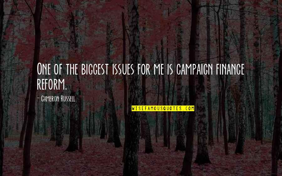 The Campaign Quotes By Cameron Russell: One of the biggest issues for me is