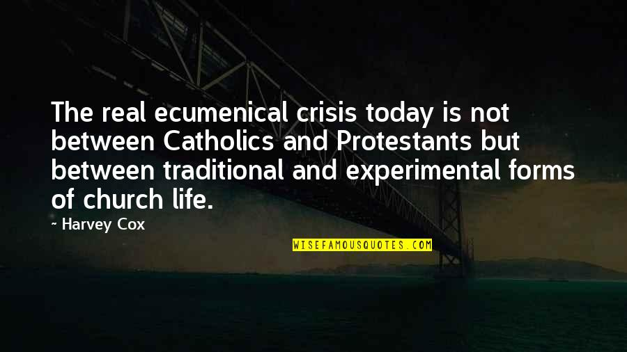 The Catholic Church Quotes By Harvey Cox: The real ecumenical crisis today is not between