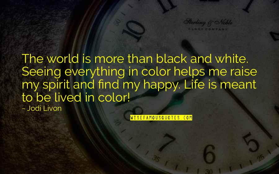 The Color Black Quotes By Jodi Livon: The world is more than black and white.