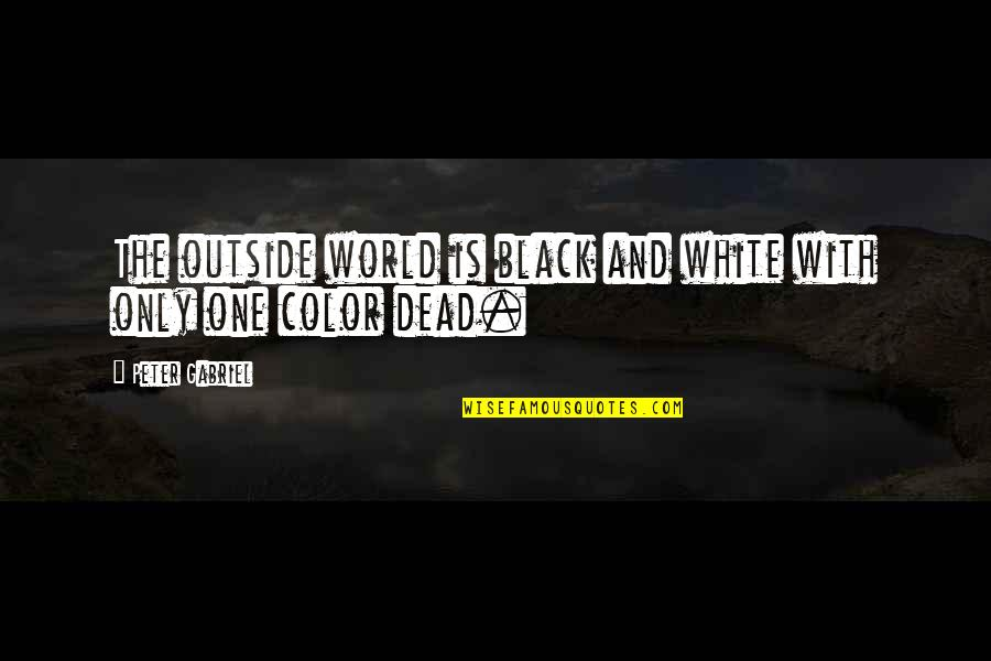 The Color Black Quotes By Peter Gabriel: The outside world is black and white with