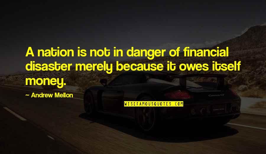 The Danger Of Money Quotes By Andrew Mellon: A nation is not in danger of financial