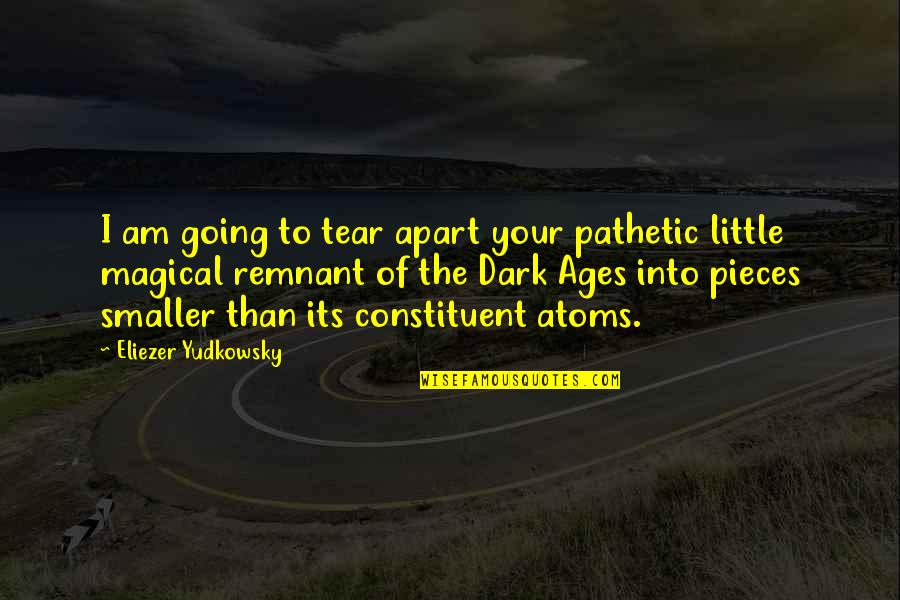 The Dark Ages Quotes By Eliezer Yudkowsky: I am going to tear apart your pathetic