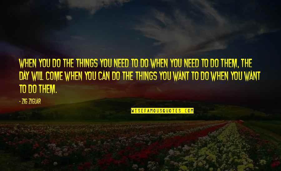 The Day Quotes By Zig Ziglar: When you do the things you need to