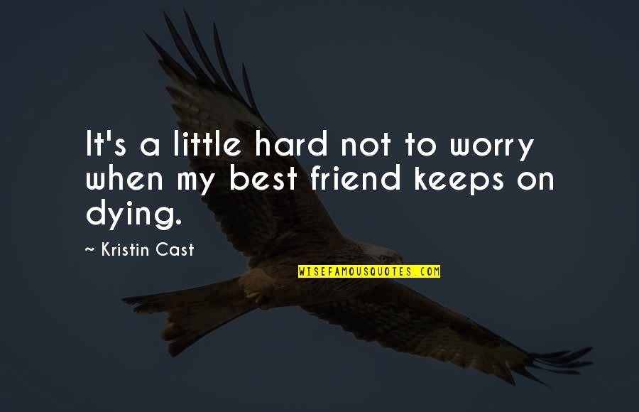 The Death Of A Best Friend Quotes By Kristin Cast: It's a little hard not to worry when