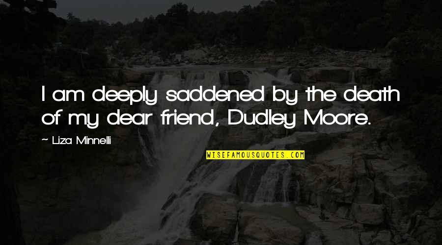 The Death Of A Best Friend Quotes By Liza Minnelli: I am deeply saddened by the death of