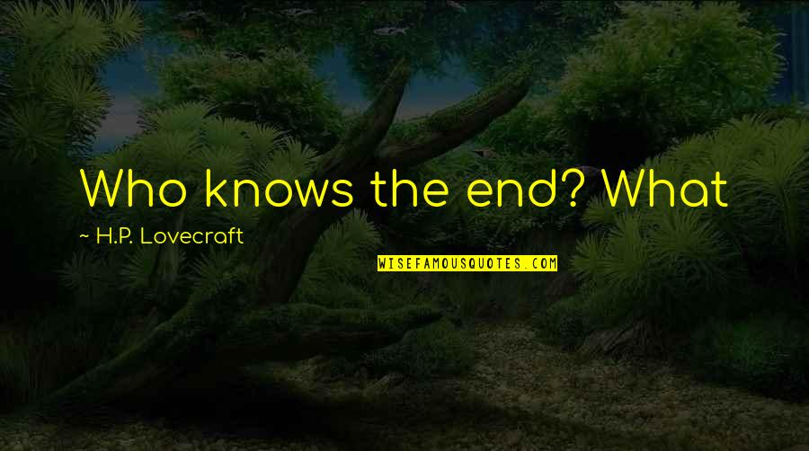 The Decline Of The Roman Empire Quotes By H.P. Lovecraft: Who knows the end? What