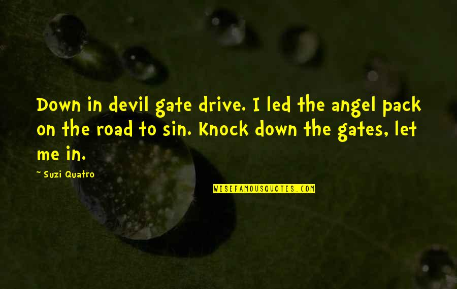 The Devil And Angel Quotes By Suzi Quatro: Down in devil gate drive. I led the