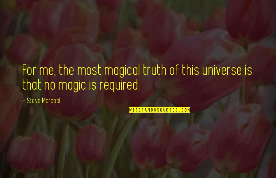 The Doors Love Song Quotes By Steve Maraboli: For me, the most magical truth of this