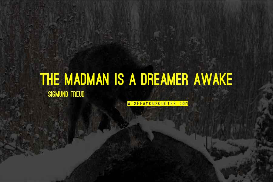 The Dreamer Quotes By Sigmund Freud: The madman is a dreamer awake