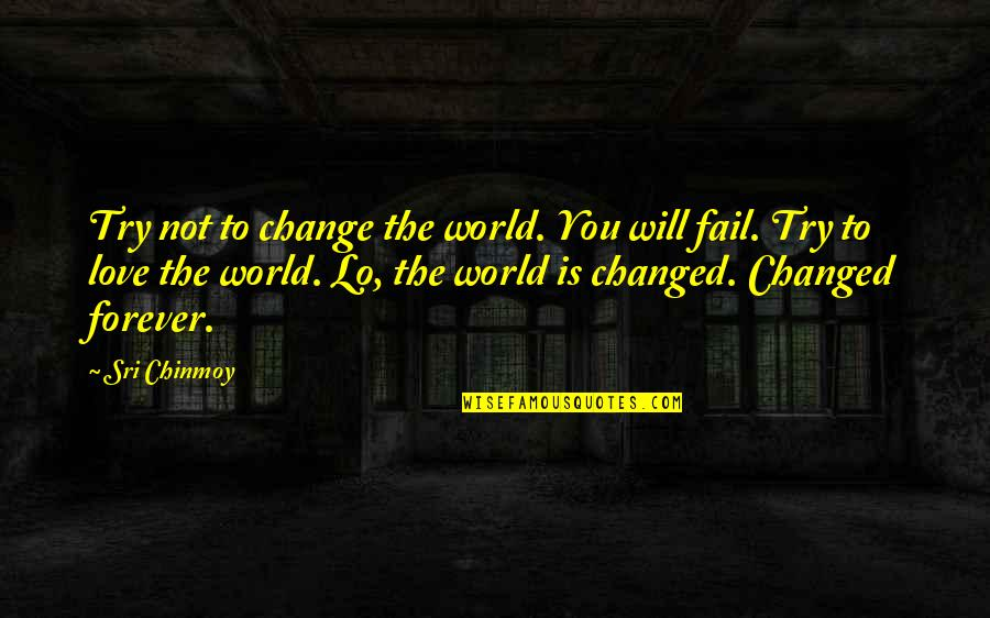 The Elderly And Aging Quotes By Sri Chinmoy: Try not to change the world. You will