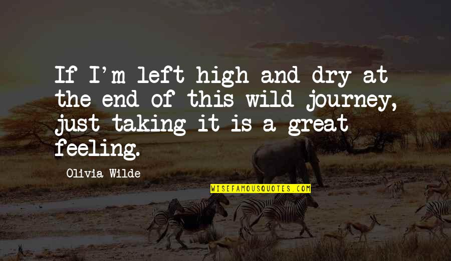 The End Of A Journey Quotes By Olivia Wilde: If I'm left high and dry at the