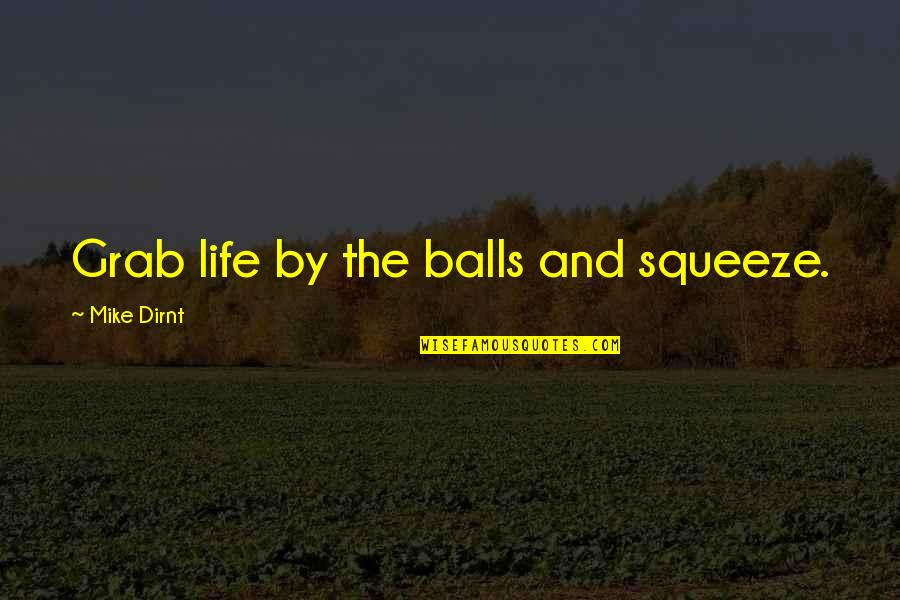 The End Of Vacation Quotes By Mike Dirnt: Grab life by the balls and squeeze.