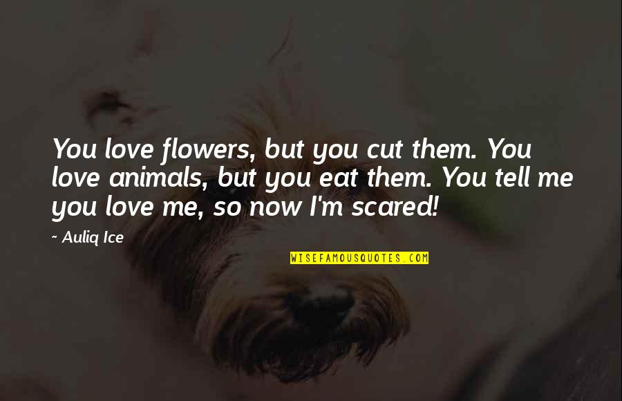 The Environment And Animals Quotes By Auliq Ice: You love flowers, but you cut them. You