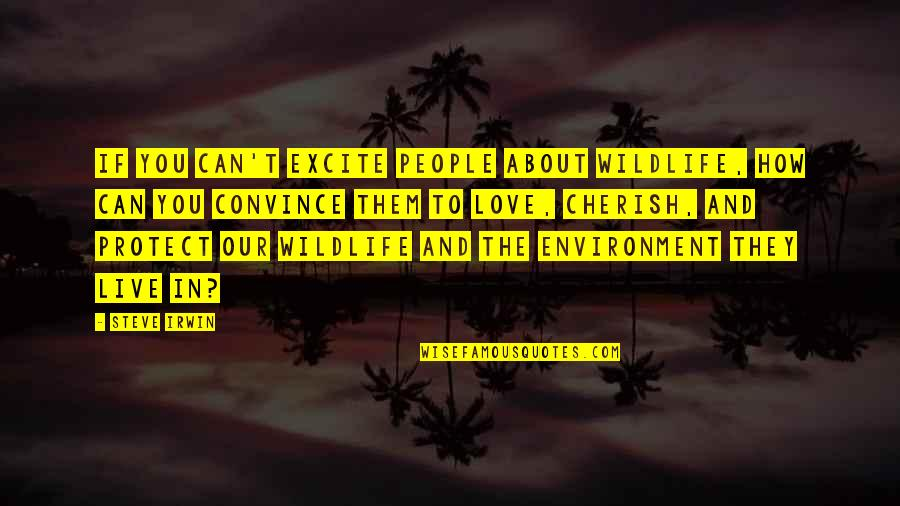 The Environment You Live In Quotes By Steve Irwin: If you can't excite people about wildlife, how