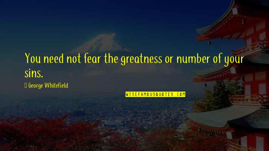 The Eye Of Providence Quotes By George Whitefield: You need not fear the greatness or number