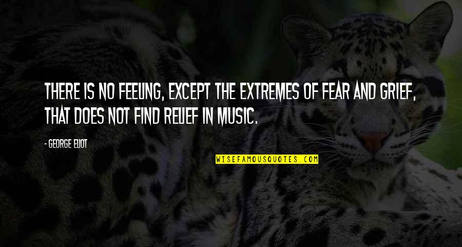 The Feeling Of Music Quotes By George Eliot: There is no feeling, except the extremes of