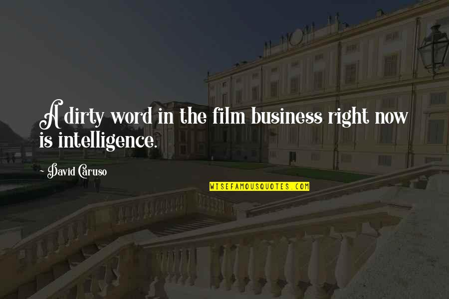 The Film Business Quotes By David Caruso: A dirty word in the film business right