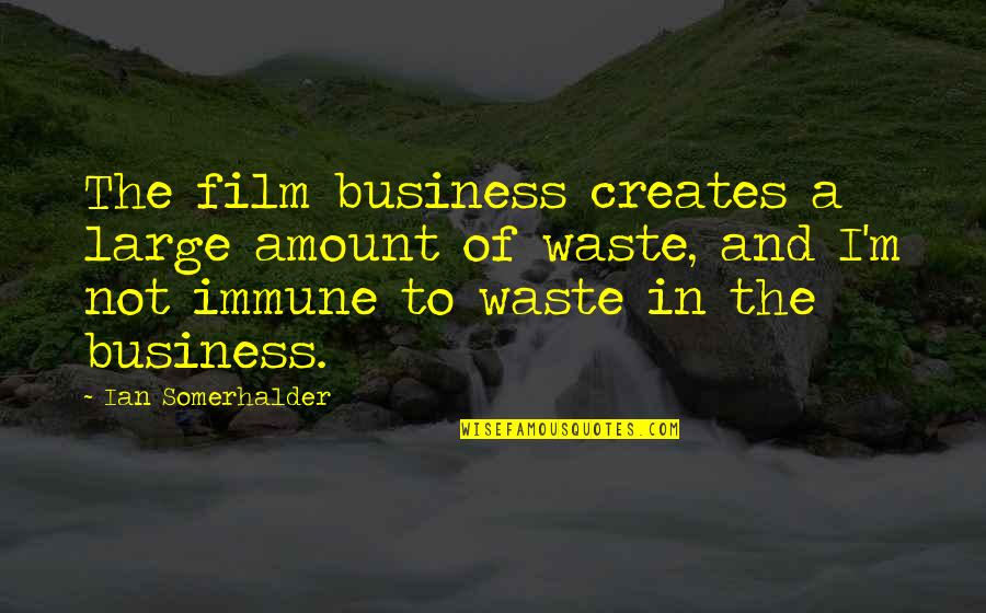 The Film Business Quotes By Ian Somerhalder: The film business creates a large amount of