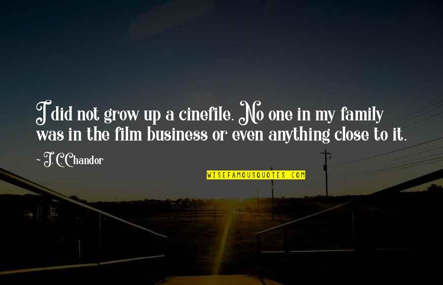 The Film Business Quotes By J. C. Chandor: I did not grow up a cinefile. No