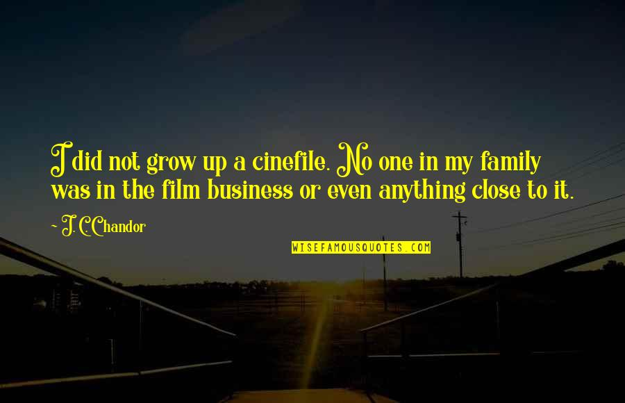 The Film Up Quotes By J. C. Chandor: I did not grow up a cinefile. No