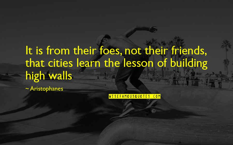 The Friends Quotes By Aristophanes: It is from their foes, not their friends,