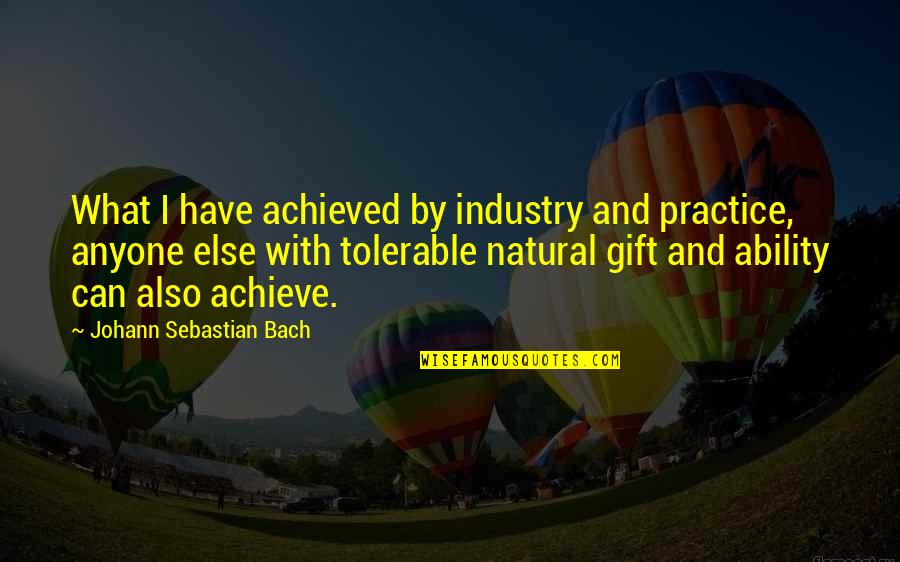 The Gift Of Music Quotes By Johann Sebastian Bach: What I have achieved by industry and practice,