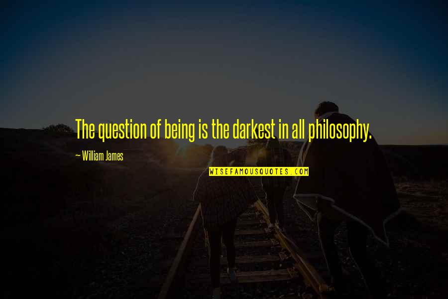 The Giver Film Quotes By William James: The question of being is the darkest in