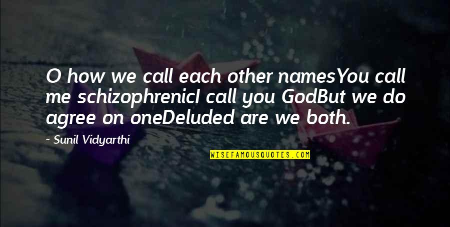 The God Delusion Quotes By Sunil Vidyarthi: O how we call each other namesYou call