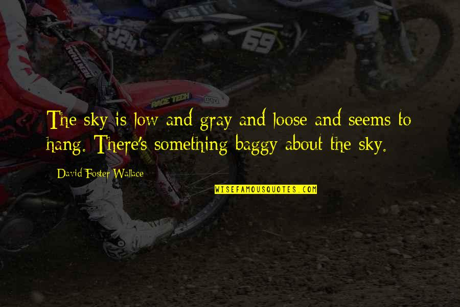 The Gray Sky Quotes By David Foster Wallace: The sky is low and gray and loose