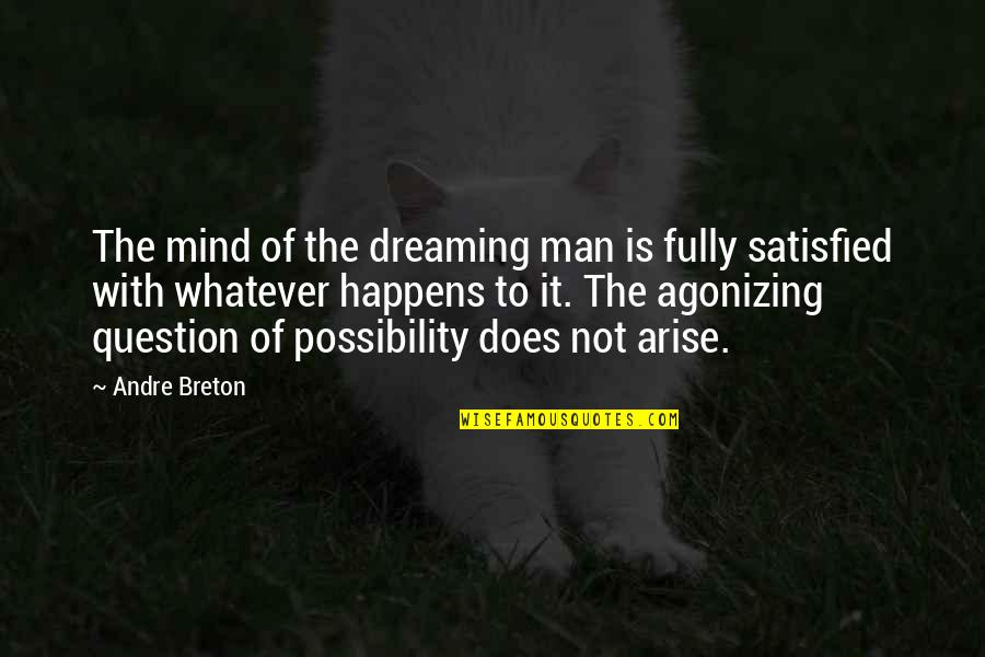 The Greater Plan Quotes By Andre Breton: The mind of the dreaming man is fully
