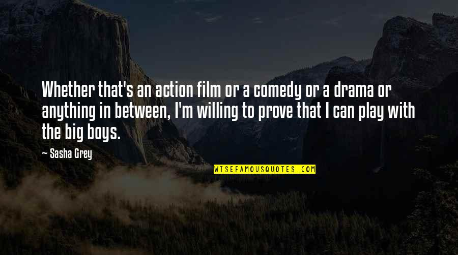 The Grey Film Quotes By Sasha Grey: Whether that's an action film or a comedy