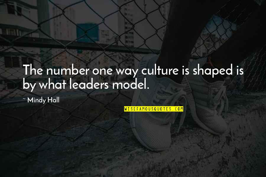 The Hall Quotes By Mindy Hall: The number one way culture is shaped is
