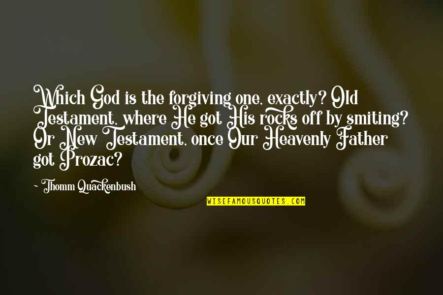 The Heavenly Father Quotes By Thomm Quackenbush: Which God is the forgiving one, exactly? Old
