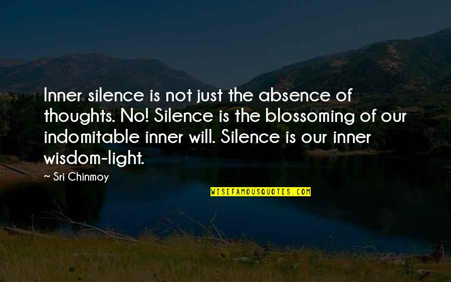 The Inner Light Quotes By Sri Chinmoy: Inner silence is not just the absence of