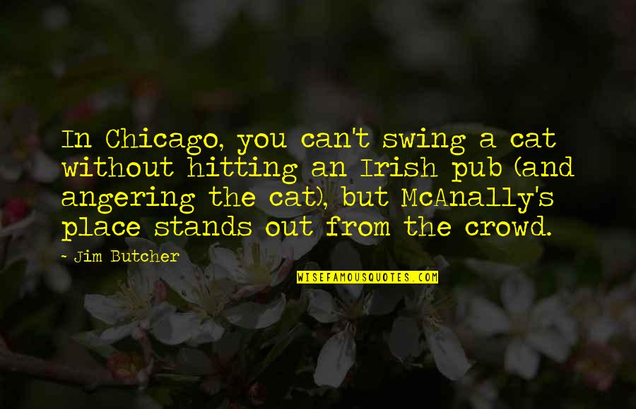 The Irish Quotes By Jim Butcher: In Chicago, you can't swing a cat without