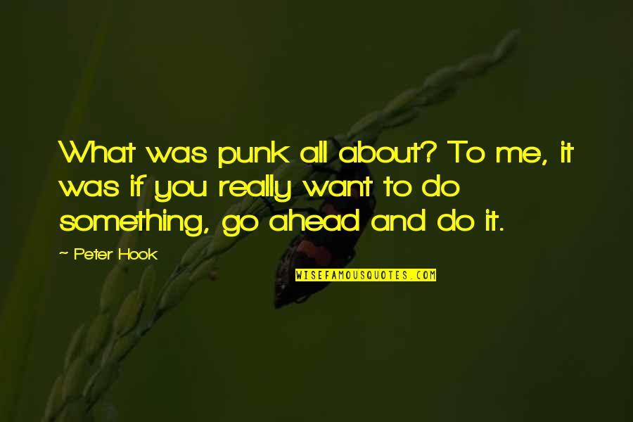 The Lady Vanishes Quotes By Peter Hook: What was punk all about? To me, it