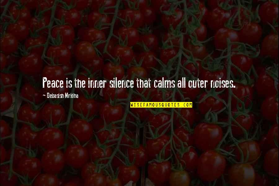 The Land In Grapes Of Wrath Quotes By Debasish Mridha: Peace is the inner silence that calms all