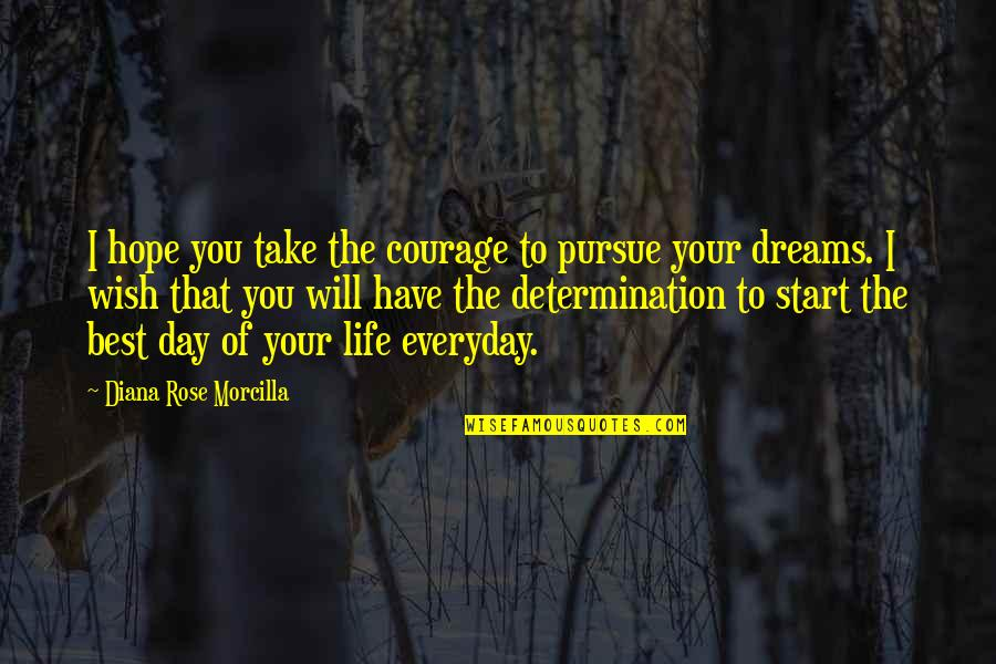 The Law Of Attraction Quotes By Diana Rose Morcilla: I hope you take the courage to pursue