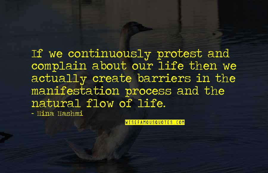The Law Of Attraction Quotes By Hina Hashmi: If we continuously protest and complain about our