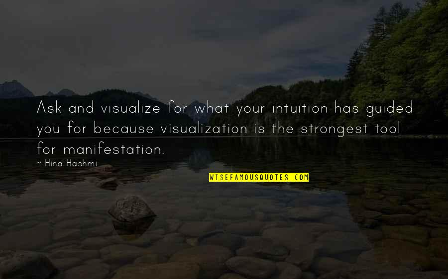 The Law Of Attraction Quotes By Hina Hashmi: Ask and visualize for what your intuition has
