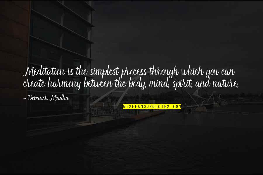 The Ledge Charlie Hunnam Quotes By Debasish Mridha: Meditation is the simplest process through which you